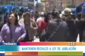 MANTIENEN RECHAZO A LEY DE JUBILACIÓN