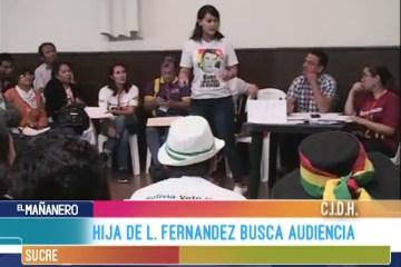 HIJA DE LEOPOLDO FERNÁNDEZ BUSCA AUDIENCIA ANTE LA CIDH