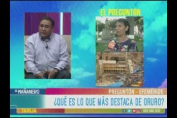 TEMA DEL DÍA: EFEMÉRIDE DE ORURO