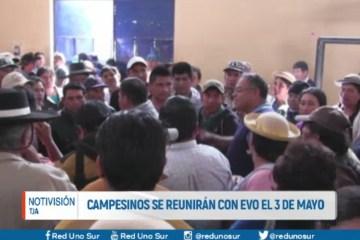 CAMPESINOS SE REUNIRÁN CON EVO EL 3 DE MAYO
