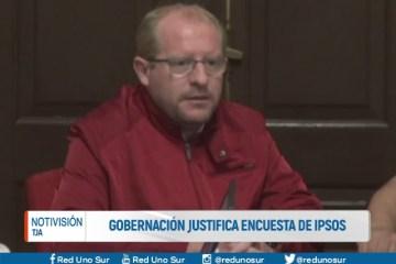 GOBERNACIÓN JUSTIFICA ENCUESTA DE IPSOS