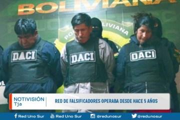 RED DE FALSIFICADORES OPERABAN DESDE HACE 5 AÑOS