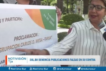 SOL.BO DENUNCIA PUBLICACIONES FALSAS EN SU CONTRA