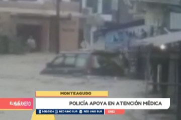 POLICÍA APOYA EN ATENCIÓN MÉDICA