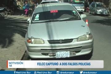 FELCC CAPTURÓ A DOS FALSOS POLICÍAS