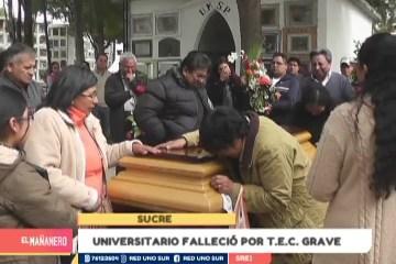 UNIVERSITARIO FALLECIÓ POR T.E.C. GRAVE