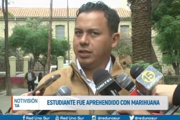 ESTUDIANTE FUE APREHENDIDO CON MARIHUANA