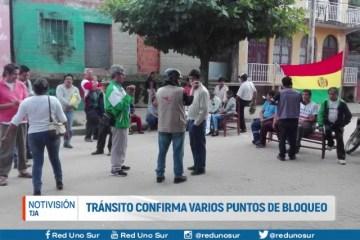 TRÁNSITO CONFIRMA VARIOS PUNTOS DE BLOQUEO