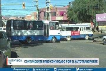 CONTUNDENTE PARO CONVOCADO POR EL AUTOTRANSPORTE