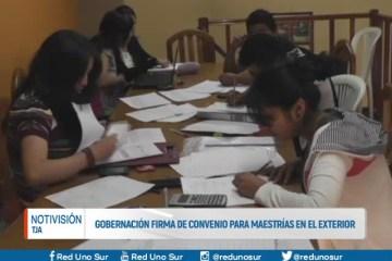 GOBERNACIÓN FIRMA CONVENIO PARA MAESTRÍAS EN EL EXTERIOR