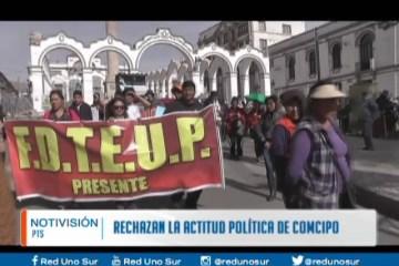 RECHAZAN LA ACTITUD POLÍTICA DE COMCIPO