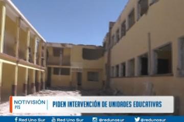 PIDEN INTERVENCIÓN DE UNIDADES EDUCATIVAS