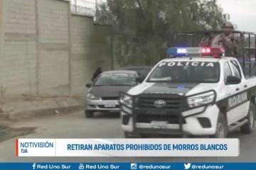 RETIRAN APARATOS PROHIBIDOS DE MORROS BLANCOS