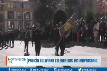 POLICÍA BOLIVIANA CELEBRA SU 193 ANIVERSARIO