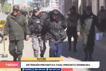 DETENCIÓN PREVENTIVA PARA PRESUNTO FEMINICIDA