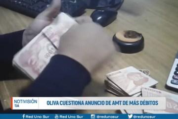 OLIVA CUESTIONA ANUNCIO DE LA AMT DE MÁS DÉBITOS