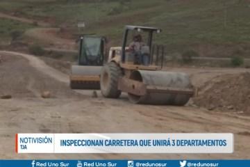 INSPECCIONAN CARRETERA QUE UNIRÁ TRES DEPARTAMENTOS