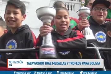 TAEKWONDO TRAE MEDALLAS Y TROFEOS PARA BOLIVIA