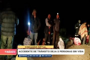 ACCIDENTE DE TRÁNSITO DEJA DOS PERSONAS SIN VIDA