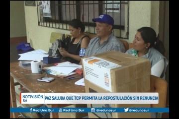 PAZ SALUDA QUE EL T.C.P. PERMITA LA REPOSTULACIÓN SIN RENUNCIA