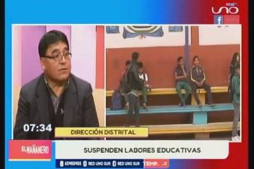 TEMA DEL DÍA: SUSPENSIÓN DE LABORES EDUCATIVAS
