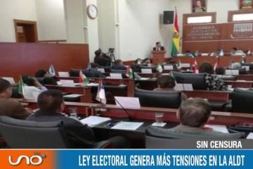 SIN CENSURA: DEBATE DE LA LEY ELECTORAL