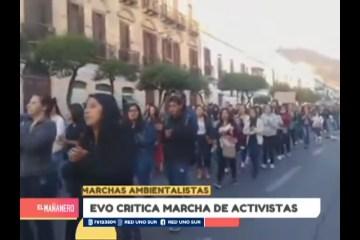 EVO MORALES CRITICA MARCHA DE ACTIVISTAS