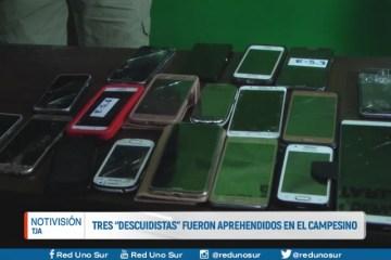 """TRES """"DESCUIDISTAS"""" FUERON APREHENDIDOS EN EL CAMPESINO"""