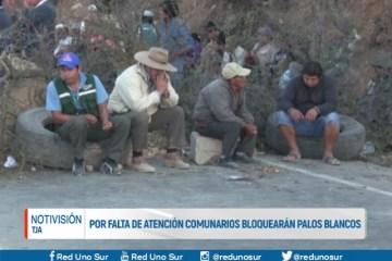 POR FALTA DE ATENCIÓN COMUNARIOS BLOQUEARÁN PALOS BLANCOS