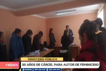 30 AÑOS DE CÁRCEL PARA AUTOR DE FEMINICIDIO