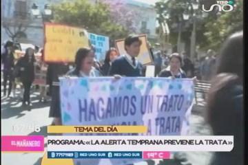 """TEMA DEL DÍA: """"LA ALERTA TEMPRANA, PREVIENE LA TRATA"""""""