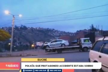 POLICÍA QUE PROTAGONIZÓ ACCIDENTE ESTABA SOBRIO
