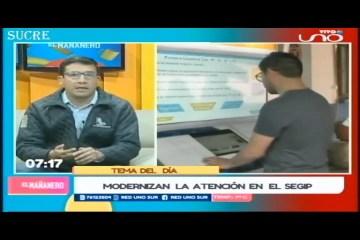TEMA DEL DÍA: SEGIP LANZA EL PANEL TOUCH INFORMATIVO