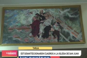 ESTUDIANTES DONARON CUADROS A LA IGLESIA DE SAN JUAN