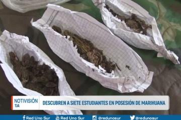 DESCUBREN A SIETE ESTUDIANTES EN POSESIÓN DE MARIHUANA