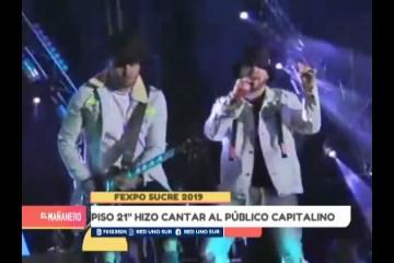 """CONCIERTO DE """"PISO 21"""" EN LA FEXPO"""