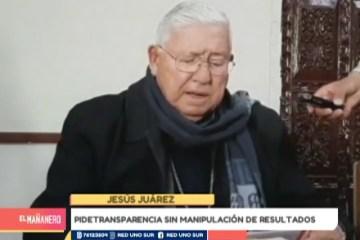 LA IGLESIA PIDE TRANSPARENCIA SIN MANIPULACIÓN DE LOS RESULTADOS