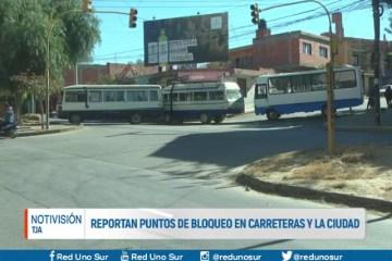 REPORTAN PUNTOS DE BLOQUEO EN CARRETERAS Y LA CIUDAD