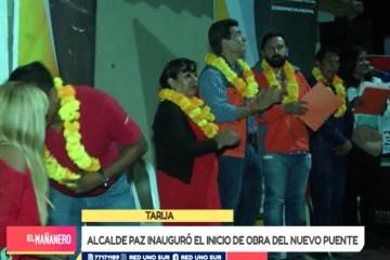 ALCALDE PAZ INAUGURÓ EL INICIO DE OBRA DEL NUEVO PUENTE