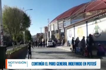 CONTINÚA EL PARO GENERAL INDEFINIDO EN POTOSÍ