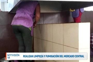 REALIZARON LA LIMPIEZA Y FUMIGACIÓN DEL MERCADO CENTRAL