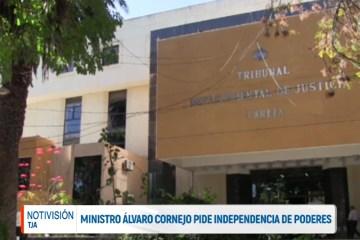 MINISTRO ÁLVARO CORNEJO PIDE INDEPENDENCIA DE PODERES