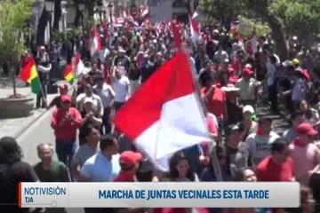 MARCHA DE JUNTAS VECINALES EN LA TARDE DEL VIERNES