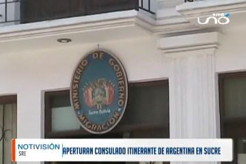 APERTURAN CONSULADO ITINERANTE DE ARGENTINA EN SUCRE