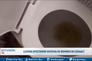 LLUVIAS AFECTARON SISTEMA DE BOMBEO DE COSAALT