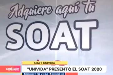 UNIVIDA PRESENTÓ EL SOAT 2020