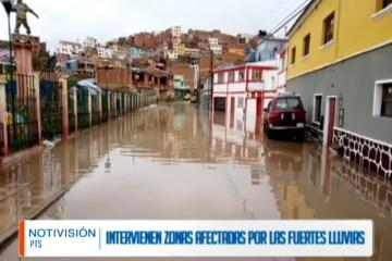 INTERVIENEN ZONAS AFECTADAS POR LAS FUERTES LLUVIAS
