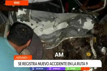 SE REGISTRÓ UN NUEVO ACCIDENTE EN LA RUTA 9