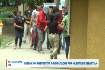 DETENCIÓN PREVENTIVA A SEIS IMPUTADOS POR LA MUERTE DE SEBASTIÁN ARCE