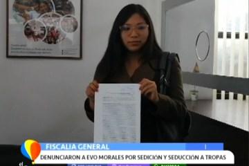 DENUNCIARON A EVO MORALES POR SEDICIÓN Y SEDUCCIÓN DE TROPAS